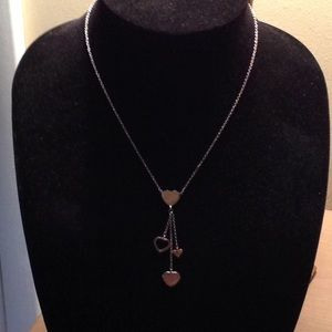 Heart Necklace w/multiple Hearts - SS .925